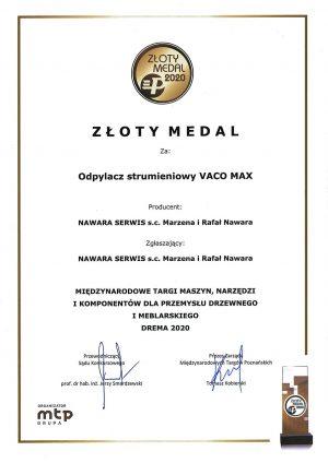 dyplom_zloty_medal targi DREMA